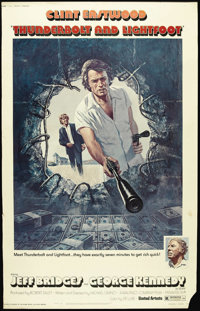 """Thunderbolt and Lightfoot (United Artists, 1974). Poster (40"""" X 60""""). Style """"A."""" Clint Eastwood play..."""