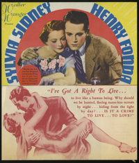 "You Only Live Once (United Artists, 1937). Herald (6.75"" X 8""). Somewhat based on the legend of Bonnie and Cly..."