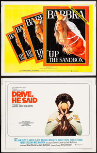 """Drive, He Said & Others Lot (Columbia, 1971). Half Sheets (2) (22"""" X 28""""), One Sheets (2) (27"""" X..."""
