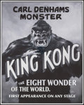 "Movie Posters:Horror, King Kong by Herb Schultz (2015). Screen Print Poster (24"" X 36""). Horror.. ..."