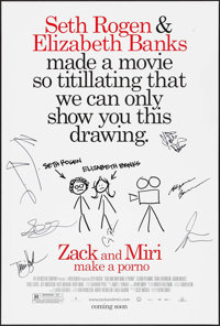 """Zack and Miri Make a Porno (The Weinstein Company, 2008). Autographed One Sheet (27"""" X 41""""). Comedy"""