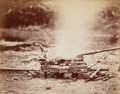 Photographs:Albumen, Artist Unknown (19th Century). A Pauper's Funeral Pyre,1870. Albumen. 8 x 10 inches (20.3 x 25.4 cm). Titled in an unkn...