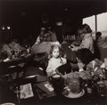 Photographs, Larry Fink (American, b. 1941). Girl in Cafe. Gelatin silver. 14-1/2 x 14-3/4 inches (36.8 x 37.5 cm). ...