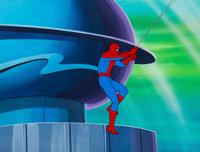Spider-Man and His Amazing Friends Spidey Production Cel and Painted Master Production Background (Marvel Productions...
