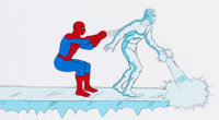 Spider-Man and His Amazing Friends Spidey and Iceman Production Cel (Marvel Productions, 1981)
