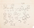 Animation Art:Color Model, The Mite Makes Right Color Studio Model Sheet (FamousStudios, 1948)....
