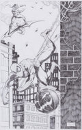 Original Comic Art:Splash Pages, Rol Enriquez - Spider-Man and Green Goblin Pin-Up Original Art(2005)....