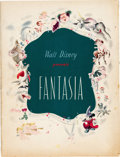 Memorabilia:Movie-Related, Fantasia Original Theatrical Program (Walt Disney, 1940)....