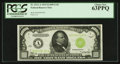 Small Size:Federal Reserve Notes, Fr. 2211-A $1,000 1934 Light Green Seal Federal Reserve Note. PCGS Choice New 63PPQ.. ...
