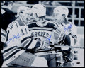 Hockey Collectibles:Photos, Brian Leetch, Mark Messier and Adam Graves Multi Signed OversizedPhotograph. ...