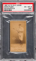 Baseball Cards:Singles (Pre-1930), 1887 N172 Old Judge Amos Rusie (#395-5) PSA EX-MT 6 (MK). ...