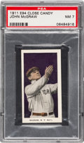 Baseball Cards:Singles (Pre-1930), 1911 E94 Close Candy John McGraw (Violet) PSA NM 7 - Pop Two, NoneHigher....