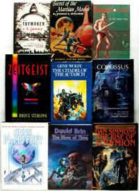 [Science Fiction & Fantasy]. Group of Nine First Editions, Including Three SIGNED. Various publisher's and dates