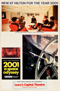 "2001: A Space Odyssey (MGM, 1968). Cinerama Hilton Hotel Promotional Poster (27"" X 40.5"")"