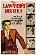 "Movie Posters:Drama, The Lawyer's Secret (Paramount, 1931). One Sheet (27"" X 41"").. ..."