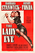 """Movie Posters:Comedy, The Lady Eve (Paramount, R-1949). One Sheet (27"""" X 41"""").. ..."""