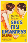 "Movie Posters:Comedy, She's My Weakness (RKO, 1930). One Sheet (27"" X 41""). Comedy.. ..."