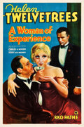 "Movie Posters:Drama, A Woman of Experience (RKO-Pathé Distributing, 1931). One Sheet(27"" X 40.5"") Style B.. ..."