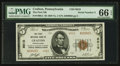 National Bank Notes:Pennsylvania, Crafton, PA - $5 1929 Ty. 2 The First NB Ch. # 6010. ...