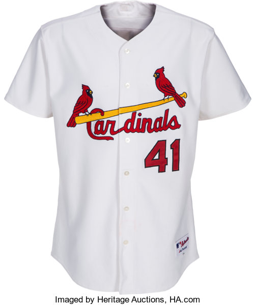 new arrivals 1bc3e b4db3 2004 Yadier Molina Game Worn St. Louis Cardinals Jersey with ...