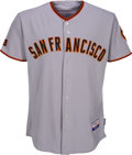 Baseball Collectibles:Uniforms, 2009 Tim Lincecum Game Worn San Francisco Giants Jersey with MLBHologram. ...
