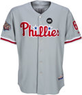 Baseball Collectibles:Uniforms, 2009 Ryan Howard Game Worn Philadelphia Phillies World Series Jersey with Photo Match - Used to Hit Two-Run Homer!...
