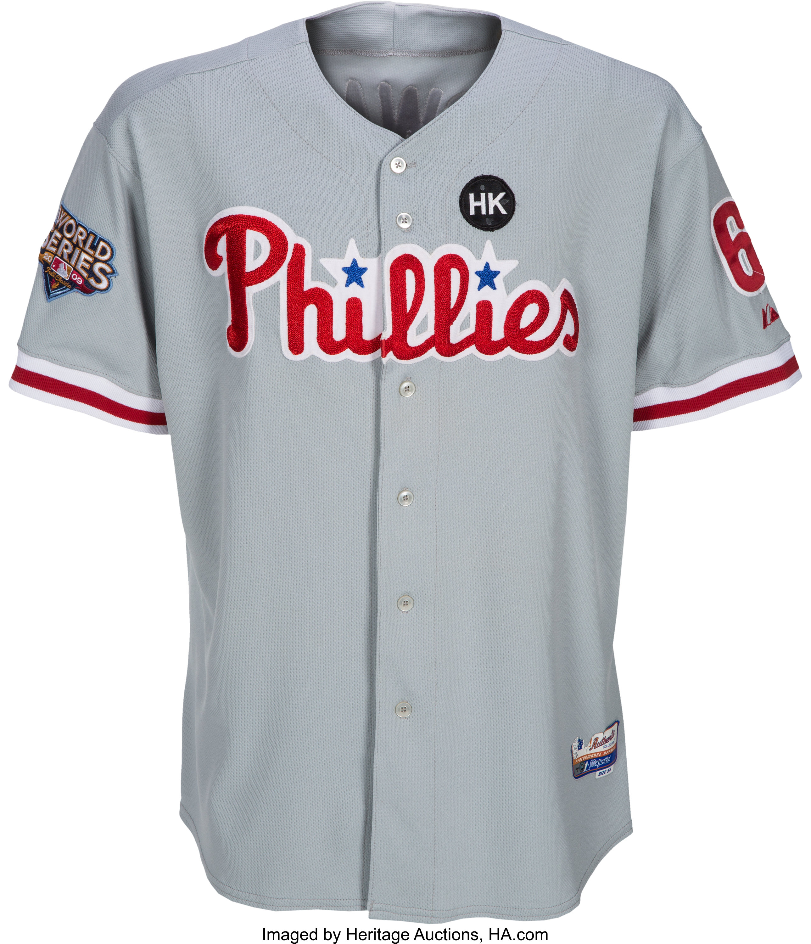 free shipping 008a8 d751e 2009 Ryan Howard Game Worn Philadelphia Phillies World ...
