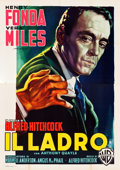 "Movie Posters:Hitchcock, The Wrong Man (Warner Brothers, 1957). Italian 4 - Fogli (55"" X78"") Luigi Martinati Artwork.. ..."