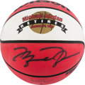 Basketball Collectibles:Balls, 1999 Michael Jordan Retires Signed Upper Deck AuthenticatedBasketball....