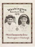 Baseball Collectibles:Publications, 1925 Walter Johnson Signed World Series Program Cover. ...