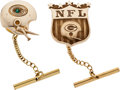 Football Collectibles:Others, 1960's Green Bay Packers Gold Tie Tacks Lot of 2 - Gifted by Coach Lombardi (Jostens)....