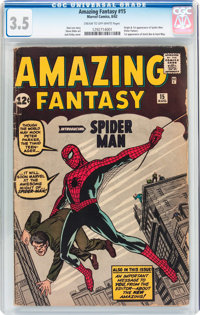 Amazing Fantasy #15 (Marvel, 1962) CGC VG- 3.5 Cream to off-white pages