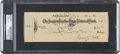 Baseball Collectibles:Others, 1932 Ty Cobb Dual-Signed Check....