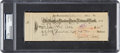Baseball Collectibles:Others, 1932 Ty Cobb Dual-Signed Check, Endorsed by Wife....