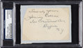 Baseball Collectibles:Others, 1930's Jimmy Collins Signed Cut. ...