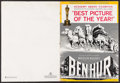 "Movie Posters:Academy Award Winners, Ben-Hur (MGM, 1960). Uncut Pressbook (38 Pages, 14"" X 19.25"")Academy Award Continuing Release Campaign. Academy Award Winne..."