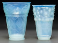 Art Glass:Other , Two Sabino Opalescent Glass Vases: Algues at Bernigues &Lea Colombea, Paris, France, post 1935. Marks: ... (Total: 2Items)