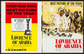 "Movie Posters:Academy Award Winners, Lawrence of Arabia (Columbia, R-1963). Uncut Pressbook (20 Pages,14"" X 17.5""). Academy Award Winners.. ..."