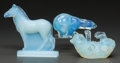 Art Glass:Other , Three Sabino Opalescent Glass Animal: Bears &Zebra, Paris, France, post 1935. Marks to all: Sabino,P... (Total: 3 Items)