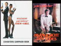"Movie Posters:James Bond, A View to a Kill (United Artists, 1985). British Campaign Book (32Pages, 8.25"" X 11.75"") & German Program (20 Pages, 7"" X 1...(Total: 2 Items)"