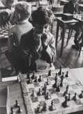 Photographs:Gelatin Silver, Roger Mayne (British, 1929-2014). Chess Competition, London, 1956. Gelatin silver. 11-3/4 x 8-3/4 inches (29.8 x 22.2 cm...