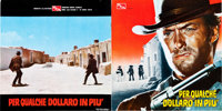 """For a Few Dollars More (PEA, 1965). Italian Program (10 Pages,13"""" X 13"""")"""