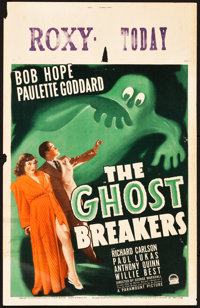 """The Ghost Breakers (Paramount, 1940). Window Card (14"""" X 22"""")"""