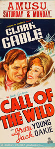 "Movie Posters:Adventure, Call of the Wild (United Artists, 1935). Australian Daybill (15"" X40"").. ..."