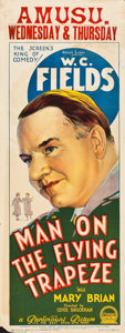 """Movie Posters:Comedy, Man on the Flying Trapeze (Paramount, 1935). Pre-War AustralianDaybill (15"""" X 40"""").. ..."""