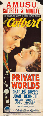 "Private Worlds (Paramount, 1935). Australian Pre-War Daybill (15"" X 40""). Drama"