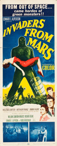 "Movie Posters:Science Fiction, Invaders from Mars (20th Century Fox, 1953). Insert (14"" X 36"")....."