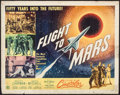 "Movie Posters:Science Fiction, Flight to Mars (Monogram, 1951). Half Sheet (22"" X 28"") Style B.Science Fiction.. ..."