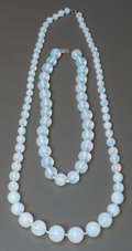 Art Glass:Other , Two Sabino Opalescent Glass Bead Necklaces, Paris, France, circa1935. 13 inches long (33.0 cm) (longer). ... (Total: 2 Items)