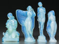 Art Glass:Other , A Group of Four Sabino Opalescent Glass Figures, Paris, France,post 1935. Marks: Sabino, Paris. 8-3/4 inches high (22.2...(Total: 4 Items)